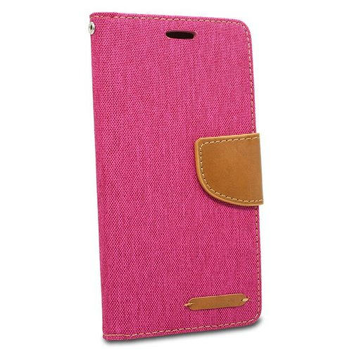 Puzdro Canvas Book Samsung Galaxy A6+ A605 - ružové