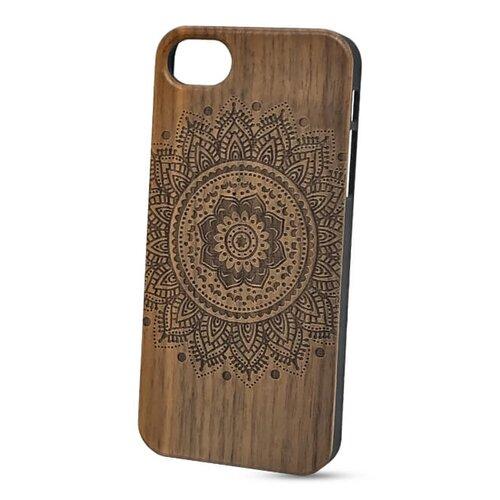 Puzdro Authentic Wood iPhone 5/5s/SE Mandala - orech