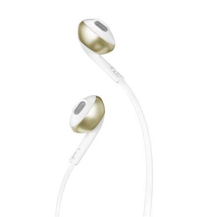JBL T205 slúchadlá - bielo-zlaté