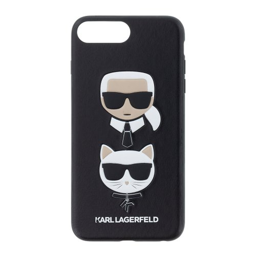 Puzdro Karl Lagerfeld pre iPhone 7 Plus/8 Plus KLHCI8LKICKC plastový, čierny