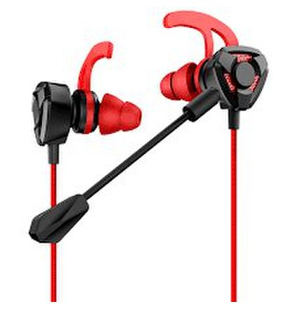 USAMS EP-27 In-Ear Gaming Stereo Headset 3,5mm Red