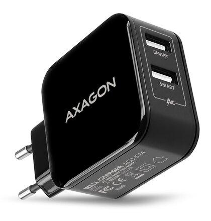 AXAGON ACU-5V4 2.6A + 2.6A WALL CHARGER. USB nabíjačka