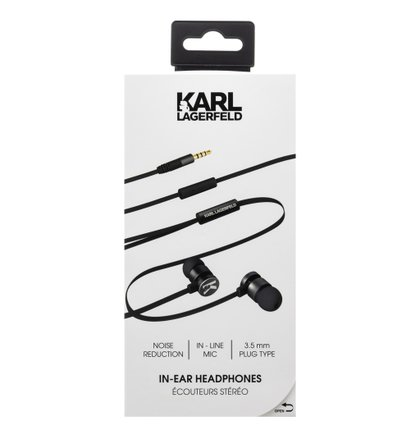 KLEPWIBK Karl Lagerfeld Wire Stereo Headset Black (EU Blister)
