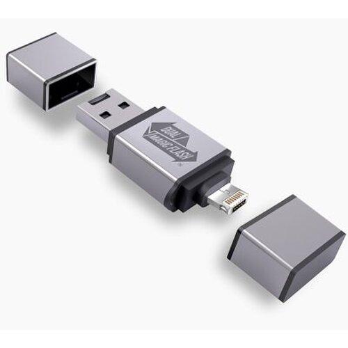 3v1 USB Flash WOW MAGIC 16GB Lightning, microUSB (do 256 GB) - modrý