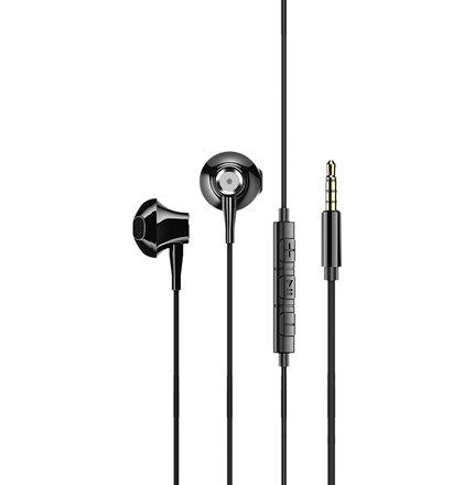 USAMS EP-26 Metal In-Ear Stereo Headset 3,5mm Black