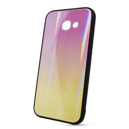 Puzdro Rainbow Glass TPU Samsung Galaxy A5 A520 2017 - ružovo-žlté