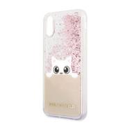 KLHCI65PABGNU Karl Lagerfeld Peek a Boo TPU Case Glitter Pink pro iPhone XS Max