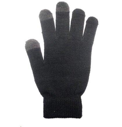 Dámske rukavice na dotykový displej - čierne