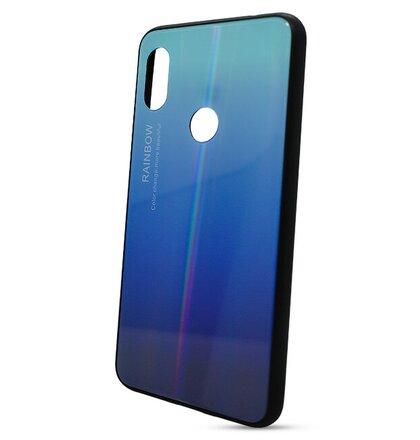 Puzdro Rainbow Glass TPU Xiaomi Redmi Note 6 Pro - modré