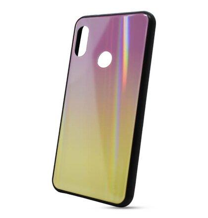 Puzdro Rainbow Glass TPU Xiaomi Mi A2 Lite - ružovo-žlté