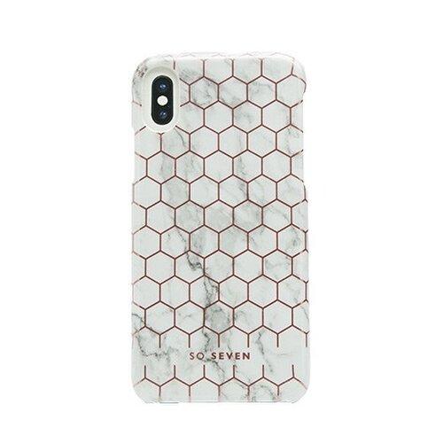 SoSeven Fashion Milan Hexagonal Marble White/Rose Gold pro iPhone X/XS