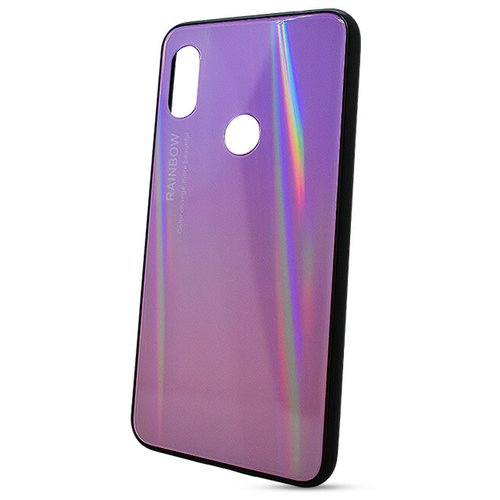 Puzdro Rainbow Glass TPU Xiaomi Redmi Note 6 Pro - ružové