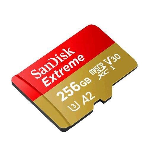 MicroSDXC karta SANDISK Extreme 256GB 160MB/s + adaptér