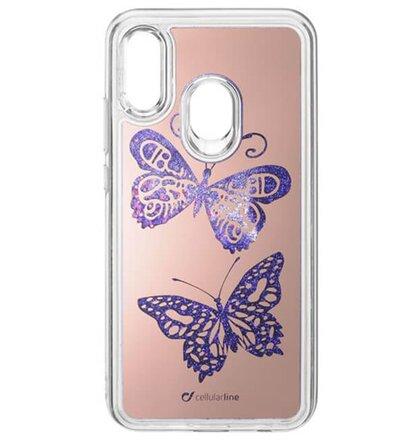 Gelové púzdro CellularLine Stardust pre Huawei P20 Lite, motív Motýľ