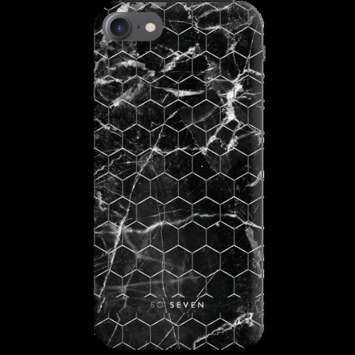 SoSeven Milan Case HoneyComb Marble Black Kryt pro iPhone 6/6S/7/8