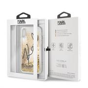 KLHCI61TRKSIGGO Karl Lagerfeld Signature TPU Case Glitter Star Gold pro iPhone XR