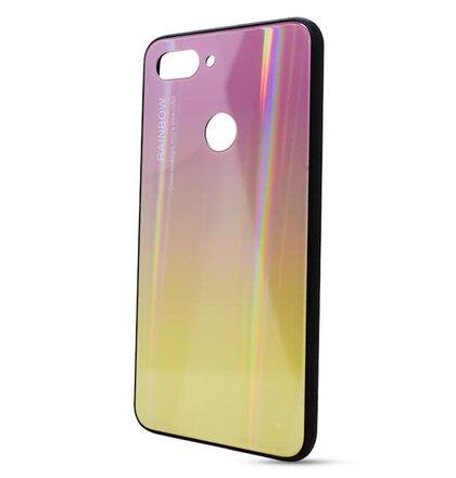 Puzdro Rainbow Glass TPU Xiaomi Mi 8 Lite - ružovo-zlaté