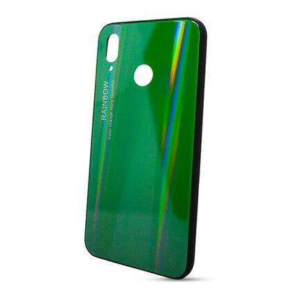 Puzdro Rainbow Glass TPU Huawei P20 Lite - zelené