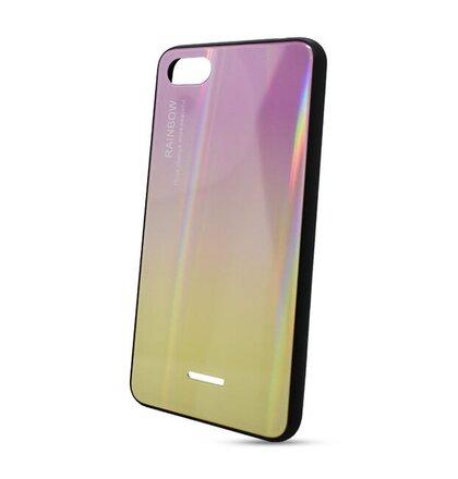 Puzdro Rainbow Glass TPU Xiaomi Redmi 6A - ružovo-žlté