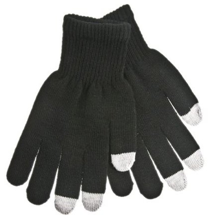 Pánske rukavice na dotykový displej - čierne