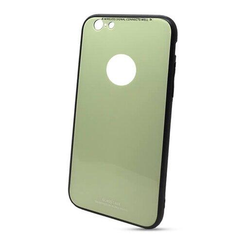 Puzdro Glass Hard TPU iPhone 6/6s - limetkové