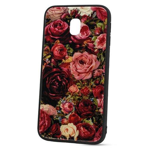 Puzdro Glass Hard TPU Samsung Galaxy J3 J330 2017 - ruže