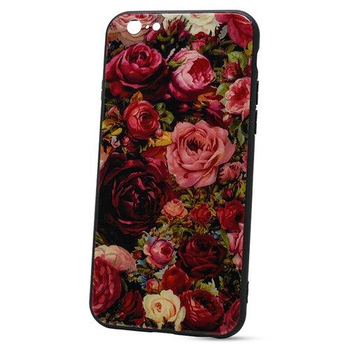 Puzdro Glass Hard TPU iPhone 6/6s - ruže