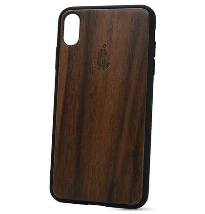 Puzdro Authentic Wood iPhone XS Max Hruška - orech