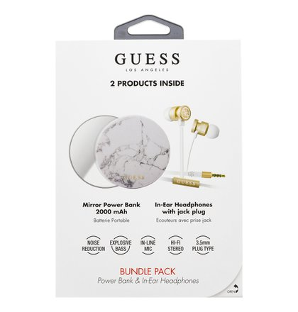 GUBPERPBMA Guess Bundle In-Ear Headphones + PowerBank 2000mAh (EU Blister)