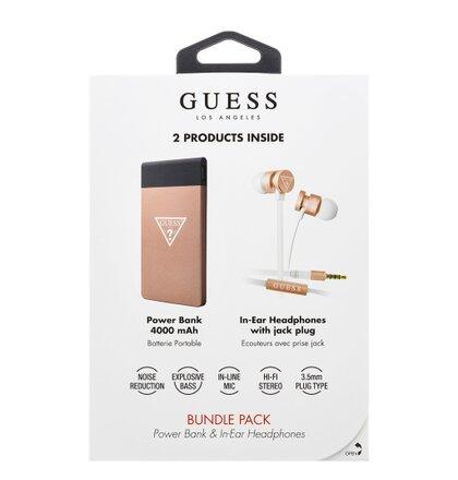 GUBPERPBTRG Guess Bundle In-Ear Headphones + PowerBank 4000mAh Rose Gold (EU Blister)