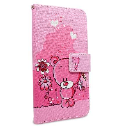 Puzdro Fancy Teddy Bear Book Huawei P20 Lite - ružové