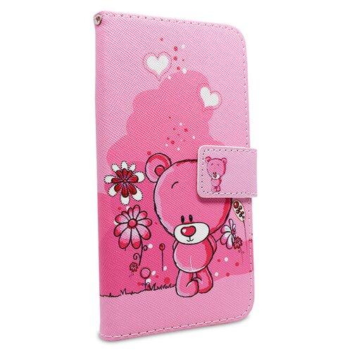 Puzdro Fancy Teddy Bear Book Samsung Galaxy A6 A600 - ružové