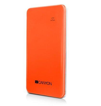 Canyon CNS-CPB40O prémiová ultra-štíhla ext. batéria s nabíjačkou 4000mAh, USB 5V/1A, pre smartfóny a tablety, oranžová