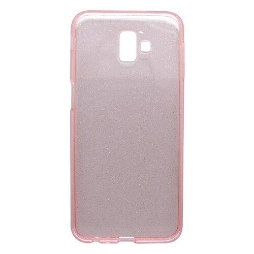 Silikónové puzdro Crystal Samsung Galaxy J6 Plus ružové