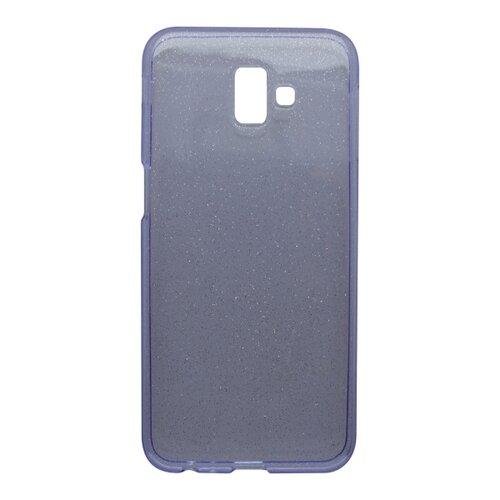 Silikónové puzdro Crystal Samsung Galaxy J6 Plus fialové