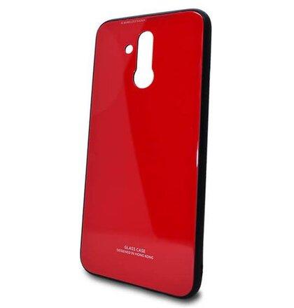 Puzdro Glass Hard TPU Huawei P20 Lite - červené