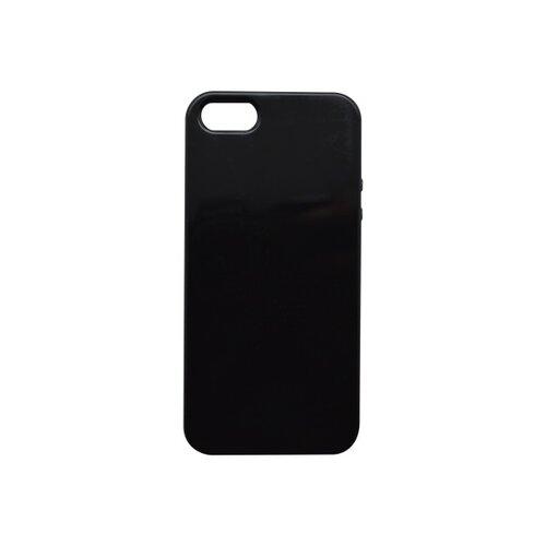 Gumené puzdro iPhone 5 čierne lesklé