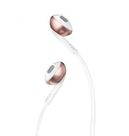 JBL T205 slúchadlá - bielo-zlato-ružové