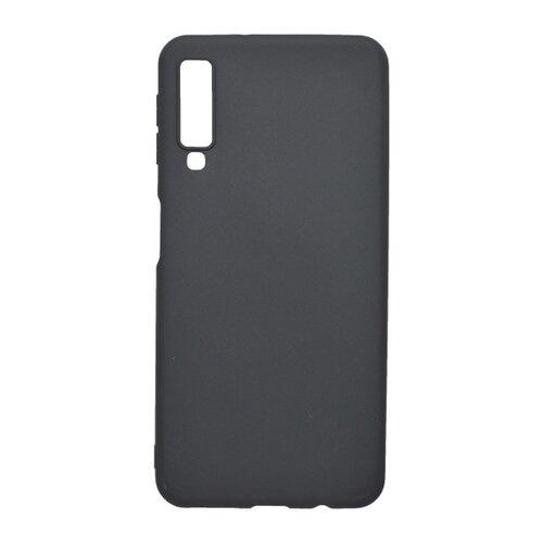 Matné gumené puzdro Samsung Galaxy A7 2018 čierne
