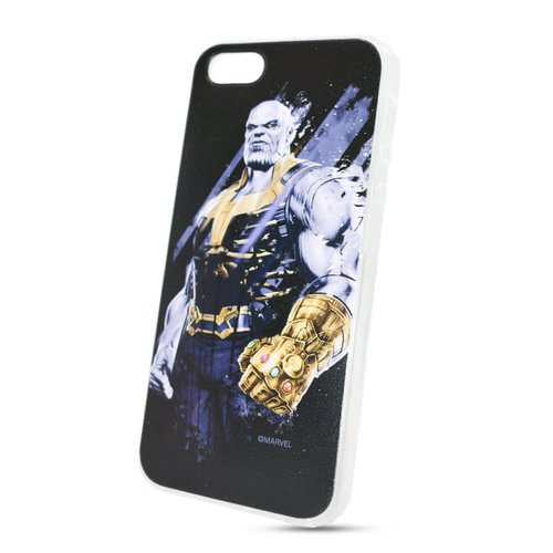 Puzdro Marvel TPU iPhone 5/5S/SE Thanos vzor 003 (licencia)