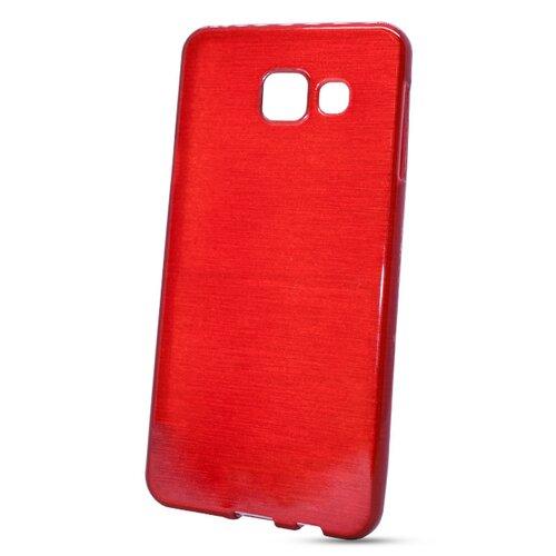 Puzdro Brushed TPU Samsung Galaxy A3 A310 2016 - červené