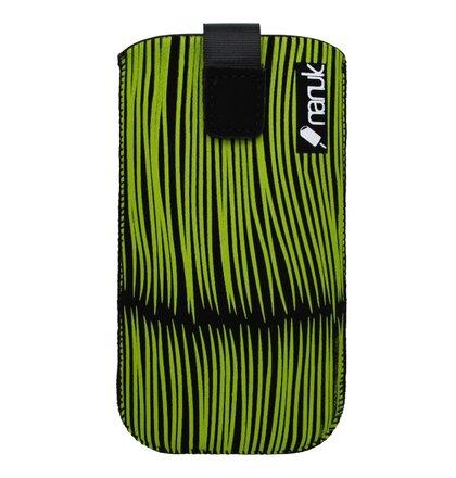 Textilné puzdro Nanuk, čierne, XL, zelený vzor