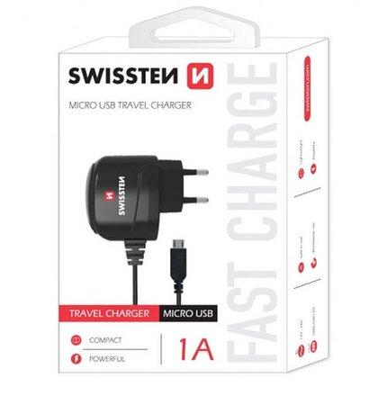 Swissten Sieťová nabíjačka Micro USB 1A čierna
