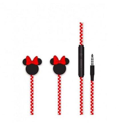 Disney Stereo Sluchátka 3.5mm Minnie Matt Red 3D
