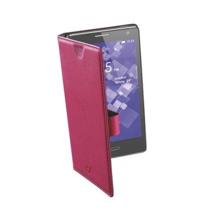 Univerzálne púzdro typu kniha CellularLine BOOK UNI, veľkosť 4XL, ružové