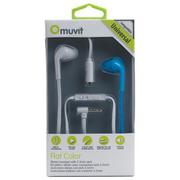 Muvit-Stereo slúchadlá s mikrofónom, 3,5 mm jack konektor, biela-modrá