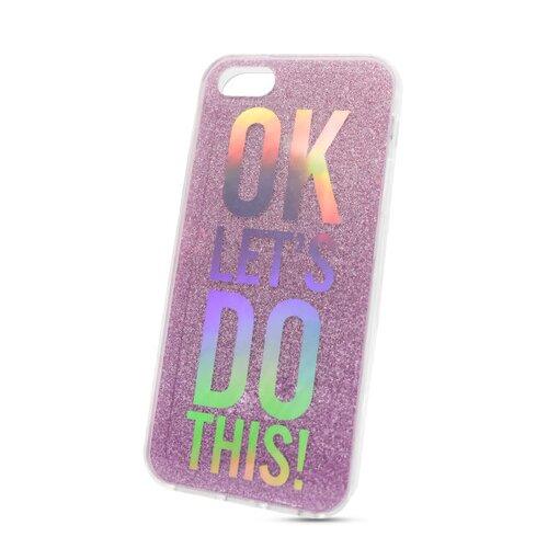 Puzdro Flexi Color iPhone 5/5S/SE vzor 1 - Lets do this