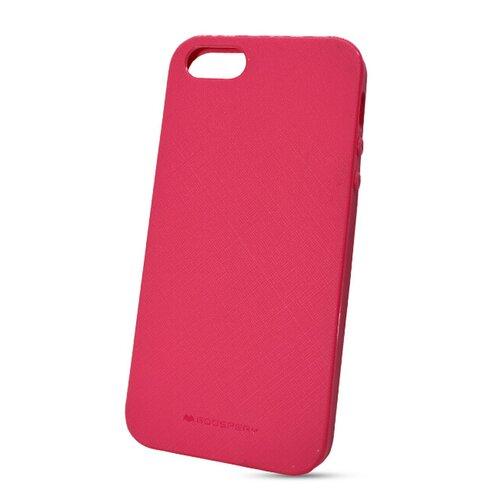 Puzdro Mercury Style Lux TPU iPhone 5/5S/SE - tmavo ružové