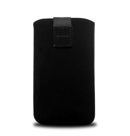 Univerzálne puzdro RedPoint Velvet, mikroplyš, čierne, veľkosť 3XL