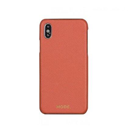IPH XS MAX tm.ružový London kožený kryt dbramante